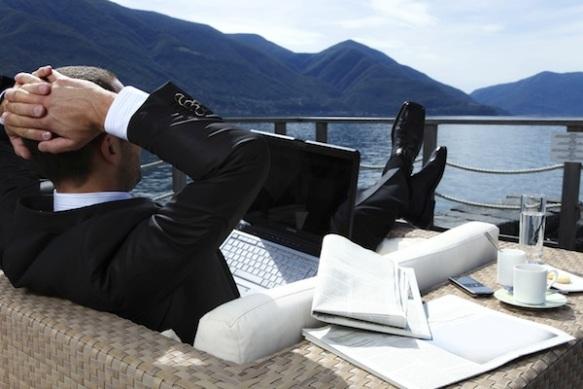 uomo d'affari in riposo
